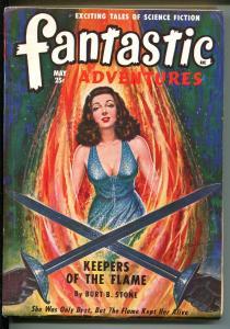 FANTASTIC ADVENTURES 5/1949-ZIFF-DAVIS-PULP SCI-FI-JONES-BLADE-RECOUR-g/vg