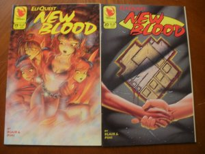 2 Near-Mint Warp Graphics Comic: ELFQUEST NEW BLOOD #19 #20 (1994) Blair Pini