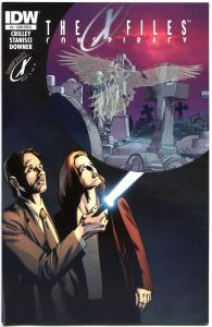X-FILES Conspiracy #1, VF+, Fox Mulder, Crow,Glow in dark, 2014,more XF in store