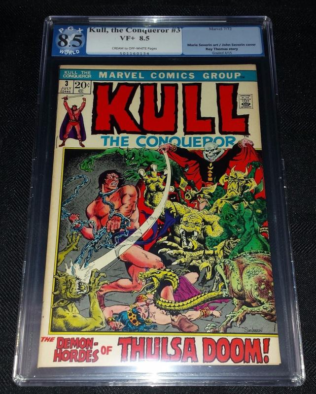 Kull The Conqueror #3 (Marvel, 1972) PGX/CGC 8.5 VF+ Cream to Off-White Pages