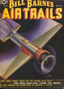 Bill Barnes Air Trails 10/1936-hero pulp-Frank Tinsley air war cover-The Crim...