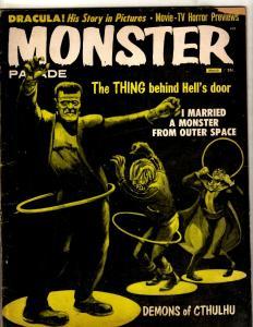 Monster Parade Vol. # 1 # 4 FN 1959 Comic Book Magazine Horror Frankenstein NE1
