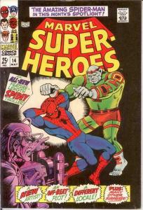 MARVEL SUPER HEROES 14 VG- SPIDERMAN    May 1968 COMICS BOOK