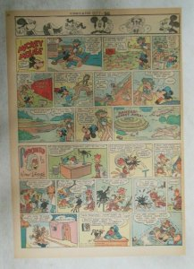 Mickey Mouse Sunday Page by Walt Disney from 10/7/1945 Tabloid Page Size