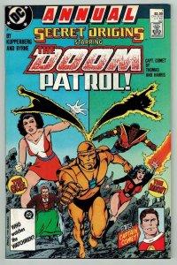 SECRET ORIGINS #1, VF, Annual, Doom Patrol, DC 1987 more DC in store