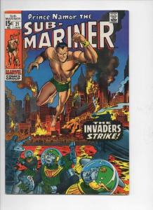 SUB-MARINER #21, VF, Severin, Invaders, 1968 1970, more in store