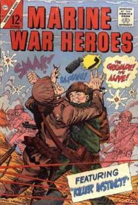 Marine War Heroes #10 VG; Charlton | low grade comic - save on shipping - detail