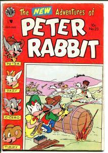 Peter Rabbit #23 1954-Avon-Indian fight-western theme-VG