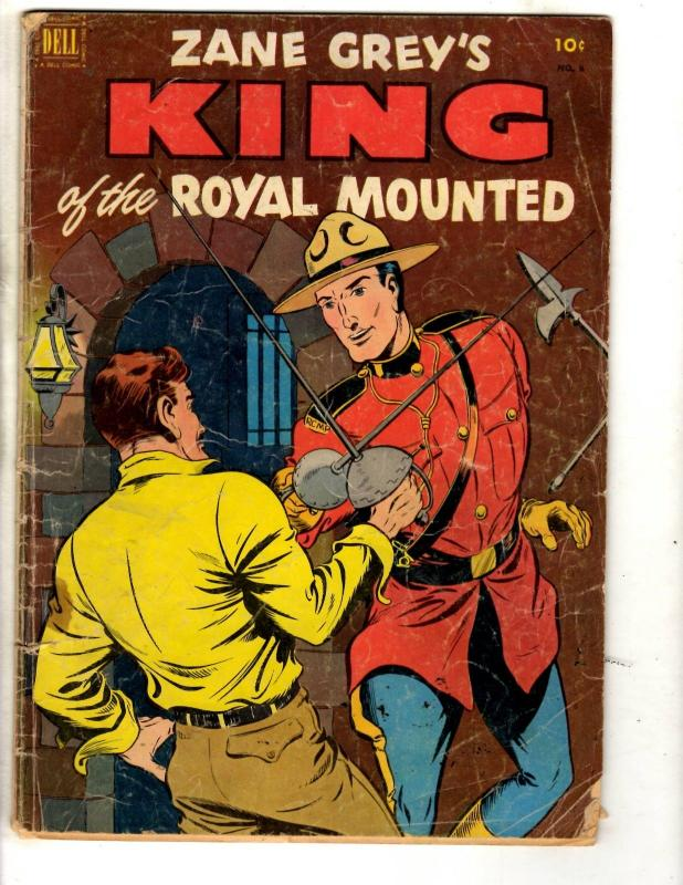 Zane Grey's King Of The Royal Mounted # 8 VG Dell Golden Age Comic Book JL2