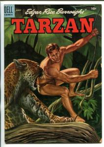 TARZAN #66-1955-DELL-BURROUGHS-JESSE MARSH-RUSS MANNING-vg