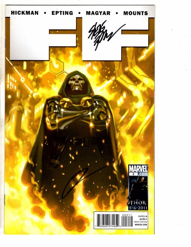Lot Of 3 FF (Future Foundation) Marvel Comics # 2 3 4 ALL SIGNED By HICKMAN J237
