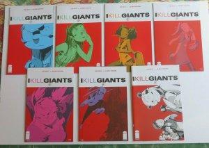 I Kill Giants #1-7 Complete Set High Grade NM+ Joe Kelly Image Comics Movie