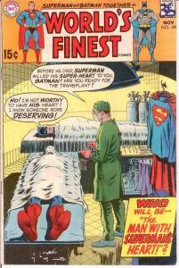 WORLDS FINEST 189 VG-F  November 1969 COMICS BOOK