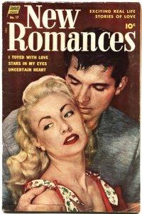 NEW ROMANCES #17-ALEX TOTH-PRE CODE-SPICY POSES-GOOD GIRL ART-1953-RARE