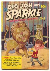 Big Jon and Sparkie #3 1952-Ziff-Davis-1st issue title-painted cover- G