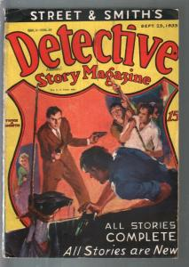 Detective Story 9/25/1933-hanging torture cover-crime & mystery pulp-G