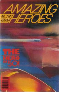 Amazing Heroes #136 VF; Fantagraphics   save on shipping - details inside