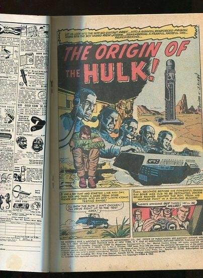 INCREDIBLE HULK ANNUAL #2  (1970)  6.5 (FINE+) OW/W PGS  SQUARE BOUND