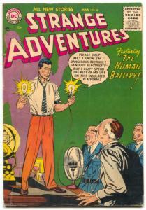 Strange Adventures #66 1956- Human Battery- rare issue FN-