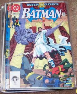 BATMAN #470 war of the gods pt 15 maxi zeus +DC 1991 tim drake robin