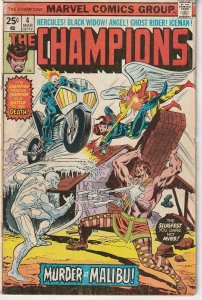 The Champions(Marvel, vol. 1) # 4 Black Widow, Ghost Rider, X-Men, Hercules