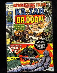 Astonishing Tales #1 Ka-Zar Doctor Doom!