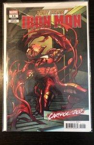 Tony Stark Iron Man #14 Carnageized Variant NM
