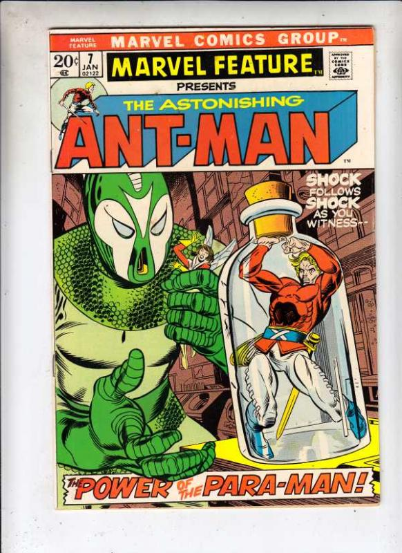 Marvel Feature presents Ant-Man, The Astonishing #7 (Jan-72) VF/NM High-Grade...