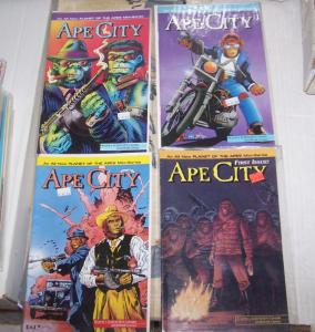 ape city  #1 2 3 4 ( 1991, Malibu/adventure ) mini sereis planet of the apes