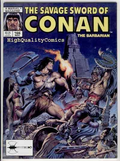 SAVAGE SWORD of CONAN #166, VF+, Blood Brothers, Earl Norem, more SSOC in store