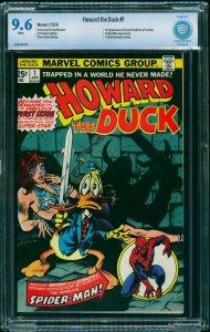 Howard the Duck #1 CBCS NM+ 9.6 White