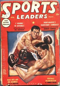 SPORTS LEADERS-#1-FOOTBALL FRANKENSTEIN-BOXING COVER-RARE PULP