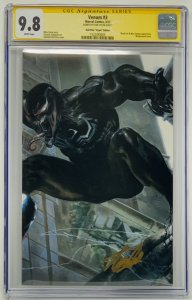 Venom #3  CGC 9.8 Marvel Comics 2017. Signed by STAN LEE- Dell'Otto Cover