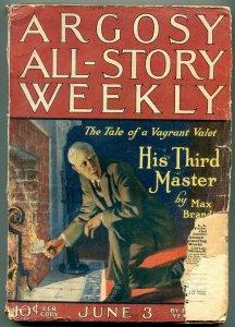 Argosy All-Story Weekly June 3 1922- Max Brand- Zorro- Johnston McCulley FAIR