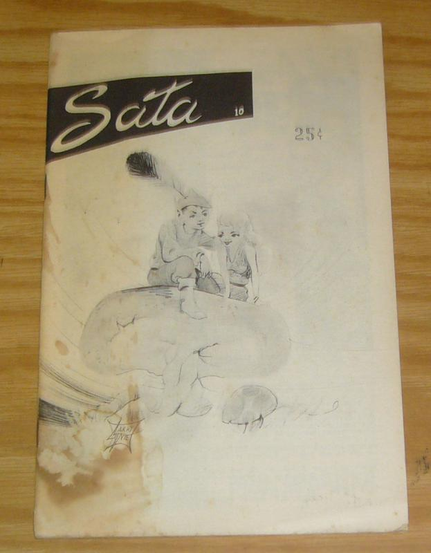 Sata #10 FN silver age fanzine - larry ivie cover - january 1959 very rare