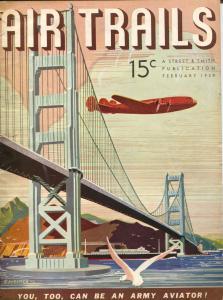 Air Trails 2/1939-C. Heimer cover-Steven Marshall-pulp thrills-VG