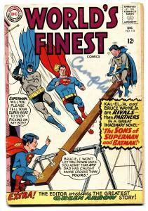 WORLDS FINEST #154 1965 GREEN ARROW-BATMAN-SUPERMAN