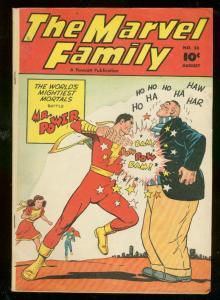 MARVEL FAMILY #26 1948-MR POWER-FAWCETT COMICS-WHITE PG FN-