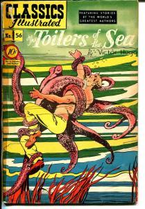 Classics Illustrated #56 HRN 55 1949-Gilberton-Toilers of The Sea-Hugo-VG