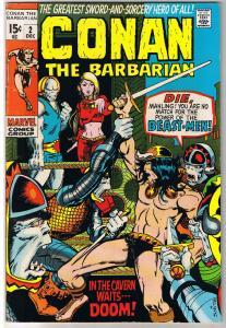 CONAN the BARBARIAN #2, VF-, Robert Howard, Barry Smith, 1970, Beast  Lair