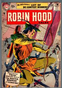 ROBIN HOOD TALES #9-3rd ISSUE-1957-DC-ANDRU AND ESPOSITO COVER ART-GLOSSY--VG VG
