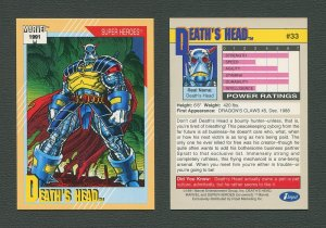 1991 Marvel Comics II  Card  #33 ( Death's Head )  MINT