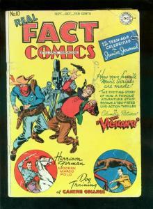 REAL FACT COMICS #10 1947-VIGILANTE-ATOMIC BOMB EXPLOSION-VIRGIL FINLAY-good G