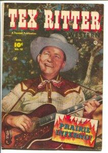 Tex Ritter Western #12-1952-Fawcett-Tex plays guitar-B-Western movie film sta...