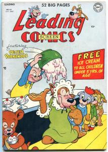 Leading Comics #43 1950- Peter Porkchops- Golden Age DC Ice Cream cover VF-