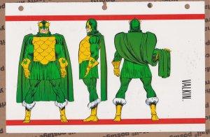 Official Handbook of the Marvel Universe Sheet- Valkin