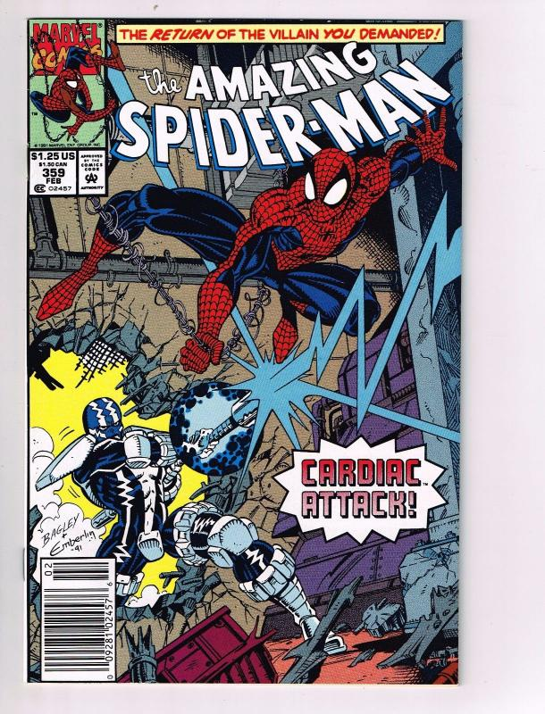 Amazing Spider-Man # 359 NM Marvel Comic Book Cardiac Appearance Issue J28