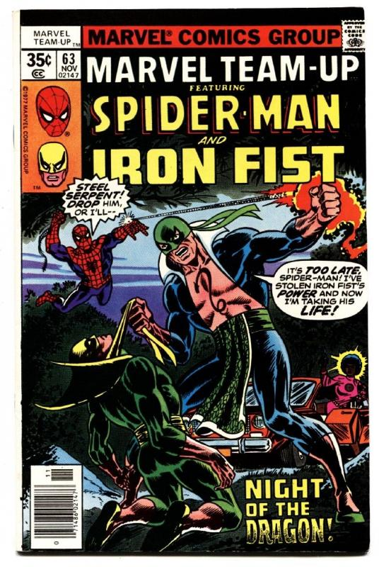 Marvel Team-up #63 Iron Fist / Daughters of the Dragon - Comic Book 1977
