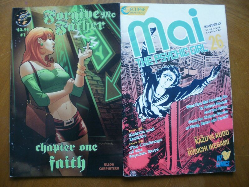 2 Comic FORGIVE ME FATHER #1 Chapter One FAITH & Eclipse MAI the PSYCHIC GIRL 49
