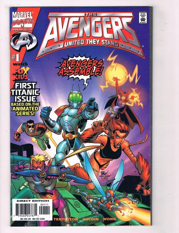 The Avengers: United They Stand #1 FN Marvel Animated Comic Book Templeton DE36
